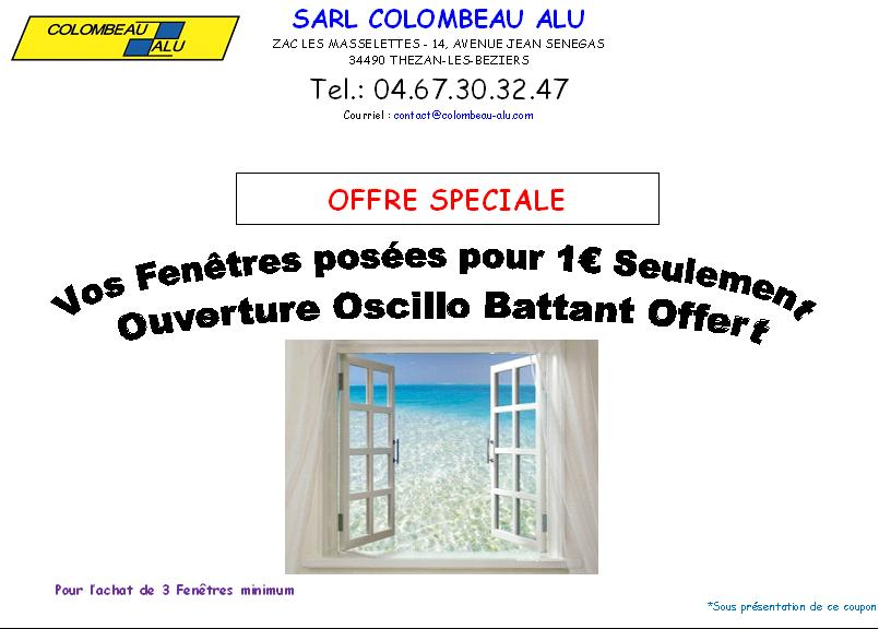OFFRE Spéciale :  Du 1er Au 31 Juillet 2013 :  Pour l'achat de 4 Volets Roulants -> Télécommande Noé offerte Et Pose de Vos Fenêtres à 1€